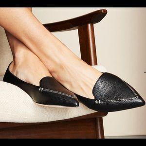 M.Gemi Stellato black leather flats 40.5